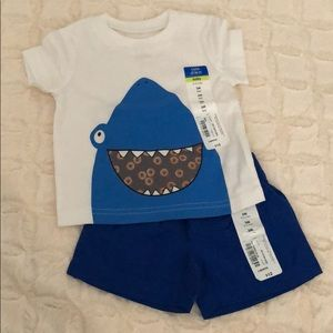 Shark Tee and Short Set
